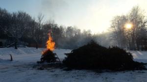 Weihnachtsbaumverbrennen in Crosta